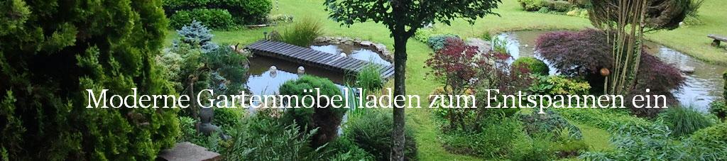 Moderne Gartenmöbel laden zum Entspannen ein